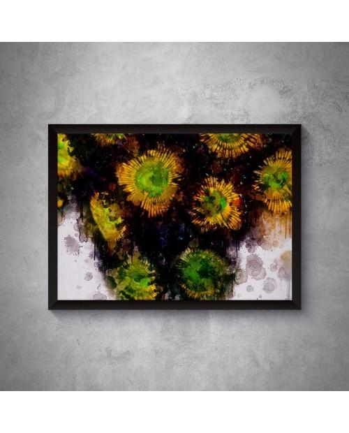 Kolonia Zoanthus Water art – plakat