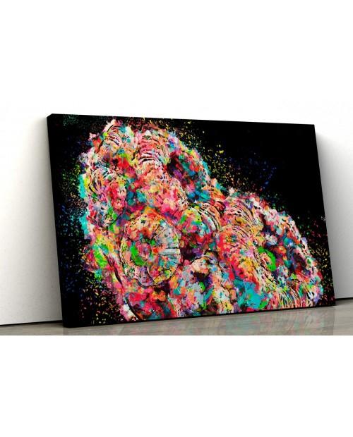 Rainbow Acanthastrea – painting on canvas