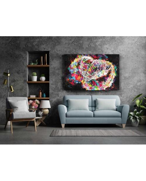 Rainbow Goni - painting on canvas