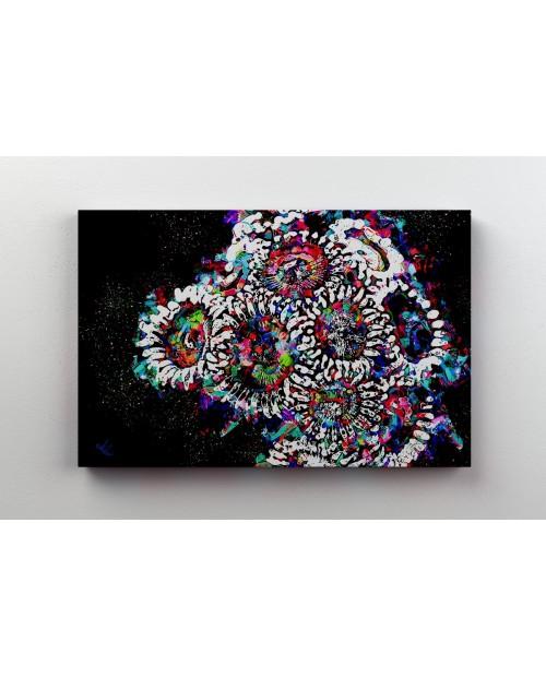 Rainbow Zoa - painting on canvas
